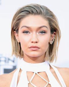 Gigi Hadid looks so flawless with this faux-bob look