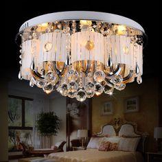 Creative Fashion Crystal Living Room Ceiling Lamp Study Room Ceiling Lamp Bedroom Ceiling Lamp