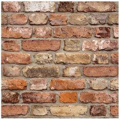 Vliesové tapety, tehla červeno-hnedá, Facade GRANDECO, rozmer m x m Textured Brick Wallpaper, Brick Pattern Wallpaper, Brick Design, Wall Design, Brick Patterns, Red Bricks, Wood Texture, Facade, Fake Brick
