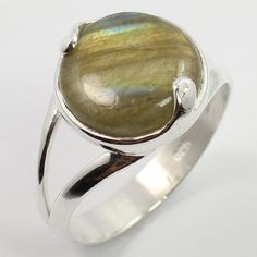 925 Sterling Silver New Fashion Ring Size US 7.25 Real Fire LABRADORITE Gemstone #SunriseJewellers #Fashion