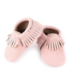 Love this Light Pink 'I Am Courageous & Strong' Moccs