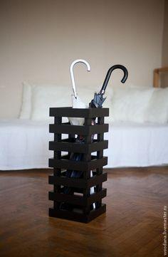Прихожая ручной работы. Ярмарка Мастеров - ручная работа. Купить Зонтница или ваза для цветов. Handmade. Черный, ваза для цветов