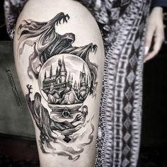 Tatuagem de Harry Potter (Foto: Reprodução/InkWiz)