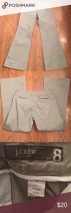 "J.Crew pants J.Crew chinos pants, 100% cotton inseam 29 1/2"" J. Crew Pants Boot Cut & Flare"