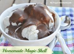Easy Homemade Magic Shell (Ice Cream Topping). Really delicious with only 2 ingredients!
