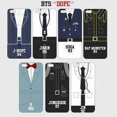 BTS DOPE Phone Case<< I love how their names are in the dicks