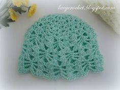 Lacy Crochet: Lacy Stitch Baby Hat Size 3-6 Months, Free Crochet Pattern