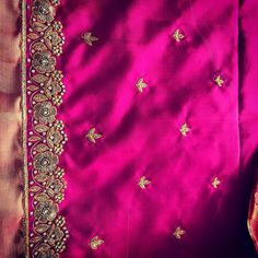 54 Ideas Embroidery Clothes Back For 2019 Simple Embroidery Designs, Simple Blouse Designs, Stylish Blouse Design, Wedding Saree Blouse Designs, Saree Blouse Neck Designs, Blouse Patterns, Hand Work Design, Diana, Maggam Work Designs