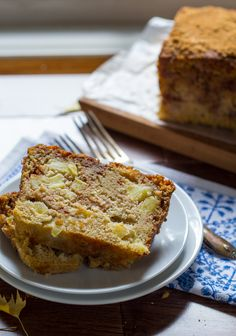 This apple loaf cake has nutty brown butter and a cinnamon sugar swirl.  Perfect fall comfort food!
