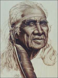 "Native American drawing....""This looks just like the Dear Indian Man that played in the movie ""Josie Wales"" with Clint Eastwood"""