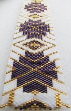 Elegant Enchantment Peyote Cuff Bracelet (2439) by terri