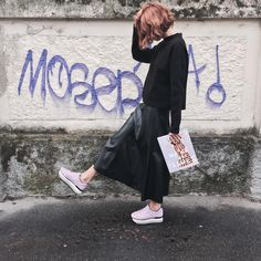 Candela Novembre #HoganClubbingAt #Milan with her #H222 Maxi Platform #sneakers in patent leather. Join the #HoganClub #lifestyle and share with us your @hoganbrand pictures on Instagram.