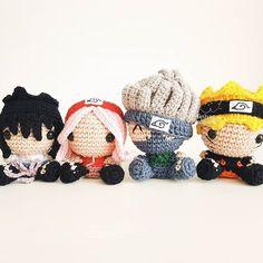 Kawaii Crochet, Crochet Diy, Crochet For Boys, Crochet Patterns Amigurumi, Crochet Dolls, Crochet Hats, Naruto Amigurumi, Crochet Keychain Pattern, Crochet Octopus