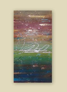 Large Original Abstract Textured Acrylic by HeatherMontgomeryArt, $325.00