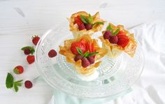 Tartaleta con relleno ligero / Phyllo tarts with skinny filling