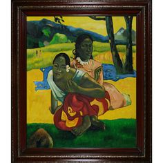 "Paul Gauguin - ""When Will You Marry?"" (Full View)  by overstockArt on Opensky"