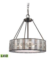 ELK 70212/3-LED Ethan LED 18 inch Tiffany Bronze Chandelier Ceiling Light #LightingNewYork
