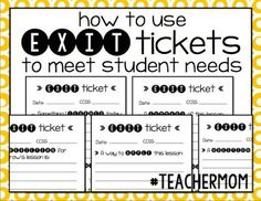 Using Exit Tickets to Meet Student Needs | hashtagteachermom