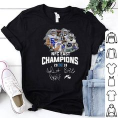 8d7a163c6 Dallas Cowboys players NFC East champions 2018 signature shirt Nfc East  Champions