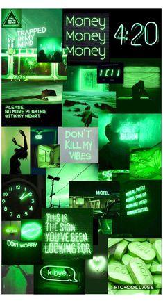 Iphone Wallpaper Green, Bad Girl Wallpaper, Iphone Wallpaper Tumblr Aesthetic, Black Aesthetic Wallpaper, Retro Wallpaper, Aesthetic Wallpapers, Green Aesthetic Tumblr, Dark Green Aesthetic, Pink Aesthetic