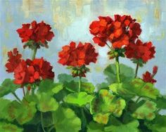 "Linda's+Witness+in+Art:+""Geraniums+Flocked"""