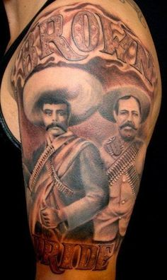 1000 images about proud chicano on pinterest chicano for Pancho villa tattoo