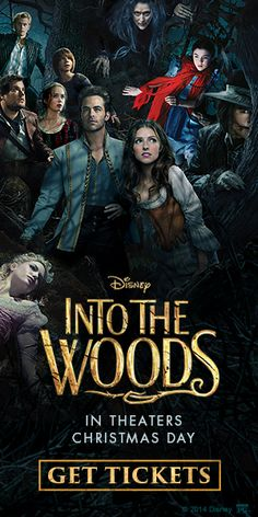 INTO THE WOODS MUSICAL - FAIRY TALES - MOVIE OPENS CHRISTMAS DAY. LOVED THE THEATER SHOW AND MUSIC.