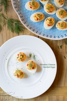 Zesty Pimento Cheese Deviled Eggs