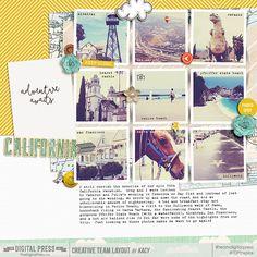 California - July Special Edition at The Digital Press #scrapbook #digiscrap