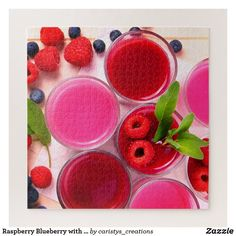 Raspberry Blueberry with Dipping Sauce Jigsaw Puzzle Custom Gift Boxes, Customized Gifts, Make Your Own Puzzle, Your Design, Watermelon, Blueberry, Dips, Raspberry, Jigsaw Puzzles