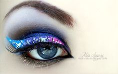 galaxy liner #vibrant #smokey #bold #eye #makeup #eyes #glitter