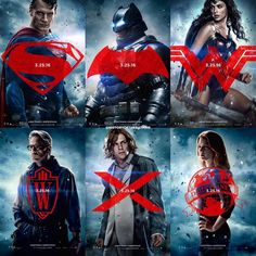 """""""Afternoon Gothamites! Here's a look at cast posters for Zack Snyder's upcoming film """"Batman v Superman: Dawn of Justice"""" @BatmanvSuperman! Starring…"""""""