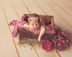 Rustic Box - Square, Newborn Photography Prop, Large Wood Bucket Planter - Ready to Ship