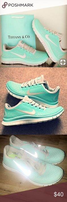 Tiffany blue Nike free runs 3.0 Tiffany blue Nike free runs 3.0 size 8.5 women's US only worn a couple of times good condition Nike Shoes Sneakers