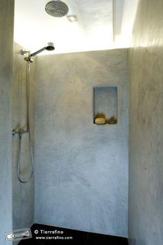 tierrafino stone tadelakt open shower