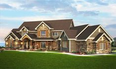 Spacious Craftsman Home Plan - 9527RW | Architectural Designs - House Plans