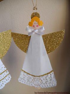 andílci  z dortových ubrousků