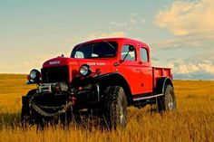 The Dodge Power Wagon, like the Willy CJ-2A, was a thinly disguised version of a military machine—in this case, the WC-series Dodge three-quarter-ton trucks used in WWII. It was America's first civilian 4WD truck. Under that giant hood wasn't an equally giant V-8. Instead, contrary to the Power Wagon's name, these trucks used a 94-hp, 230-cid inline six-cylinder.