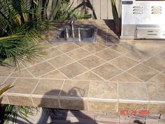 Outdoor Kitchen Construction Some Tile Pictures