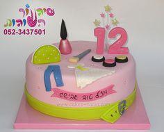 bat mitzva make up and fashion cake by cakes-mania עוגת בת מצווה בנושא איפור ואופנה מאת שיגעון העוגות - www.cakes-mania.com