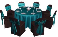Teal and black wedding. Love this color combo!!!