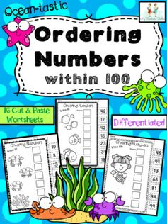 This ocean-tastic themed pack contains 15 no prep, cut and paste, ordering number worksheets! Children can practice their skills ordering numbers smallest to biggest within the range 0-20, 0-50 and 0-100 making them perfect for all abilities in your classroom. These worksheets can also be laminated... Number Sense Activities, Small Group Activities, Learning Activities, Cut And Paste Worksheets, Number Worksheets, Ordering Numbers, Teaching Numbers, Classroom Displays, Learning Resources
