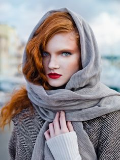 Anastasia Ivanova by Ronald James  Ton van de Merwe via JB DT onto Redheads