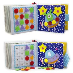 Quiet busy book Educational Montessori toddler sensory toy Eco