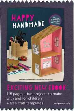 Happy Handmade - new and exciting craft ebook by 18 fun and cool crafting moms. 115pages of fun projects to make WITH and FOR children // mollymoocrafts.com