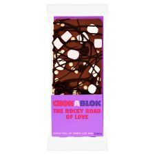 Chokablok Rocky Road Of Love Bar Chocolate Bar 80g