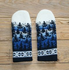 Fair Isle Pattern, Easy Knitting Patterns, Fair Isle Knitting, Knit Mittens, Tricks, Color Schemes, Knit Crochet, Projects To Try, Gloves