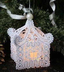 Advanced Embroidery Designs - FSL Battenberg Christmas Tree Lace Ornament