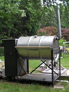 double barrel smoker plans | 55 GALLON SMOKER GRILL PLANS