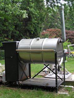 double barrel smoker plans | 55 GALLON SMOKER GRILL PLANS